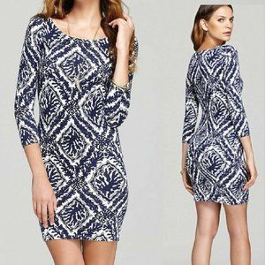 HANNAH SWEATER DRESS NAVY REEF MADNESS NWT L $198